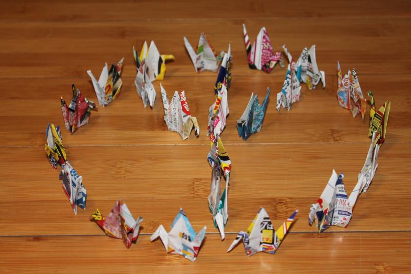 Peace Cranes Sign_Sabreena Britt 3